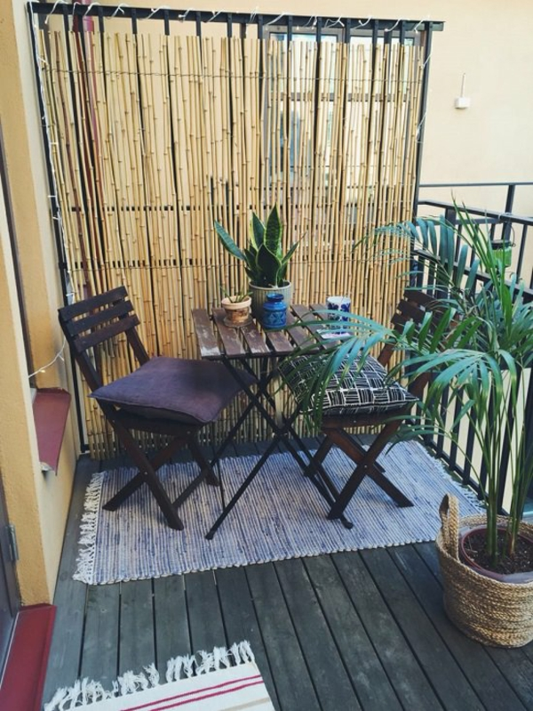 balkon sichtschutz ideen kleiner balkon ideen