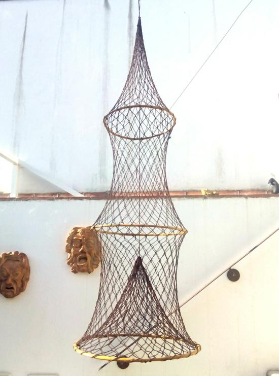 elegante sommer deko fischernetz