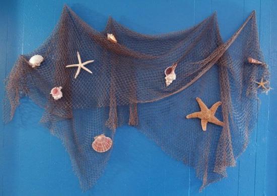 fischernetz deko ideen wanddeko selber machen