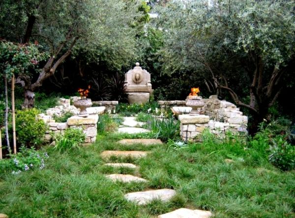 garten sitzecke gestalten steingarten gestalten ideen