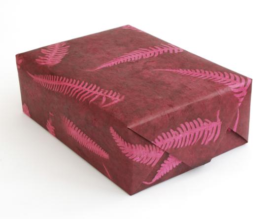 geschenkverpackungen selber machen farn deko ideen