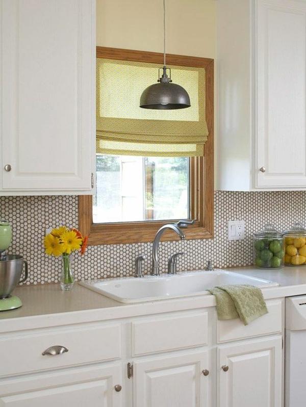 küche fliesenspiegel frische ideen weiße küchenschränke