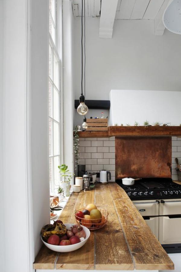 küche fliesenspiegel weiße metro fliesen einladende küche