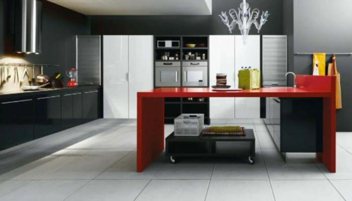 deixe a cozinha embrulhar vermelho azul