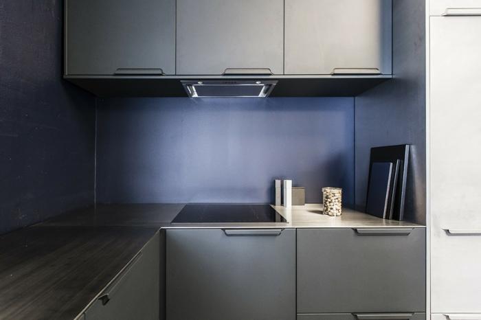 deixe a cozinha embrulhar no escuro