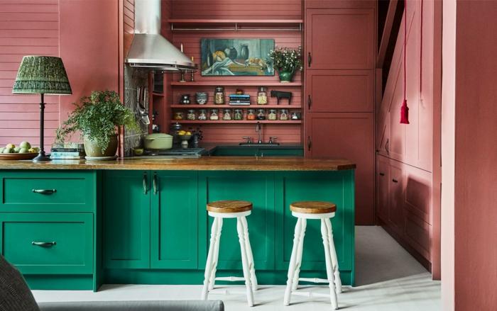 design de cores de revestimento de cozinha