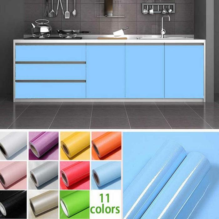 deixe a cozinha embrulhar em azul branco