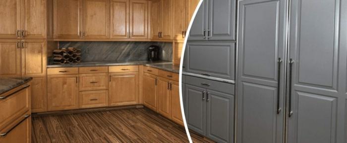 deixe a cozinha embrulhar cinza branco
