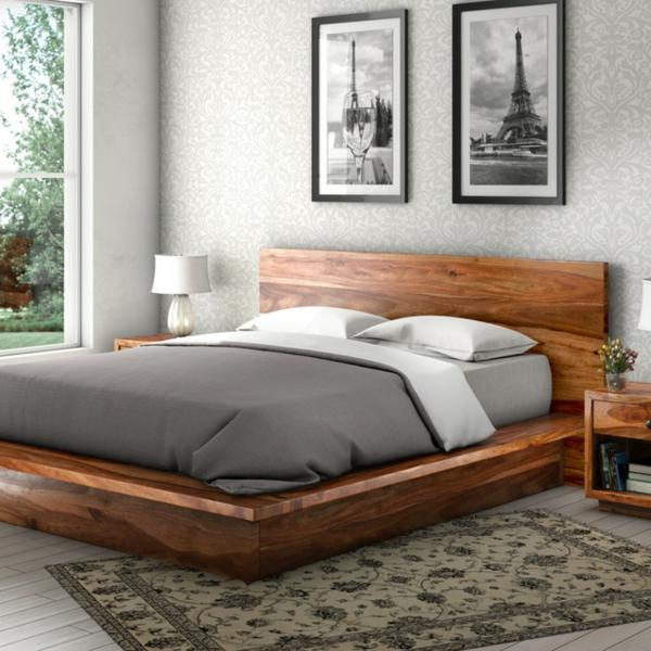 massivholzbett schlafzimmer