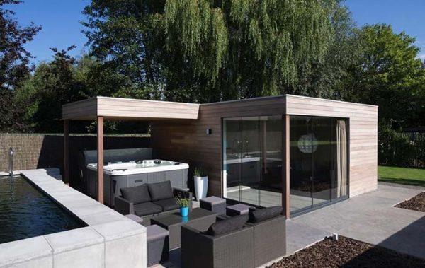 moderne Gartenhäuser aktuelle Design Trends