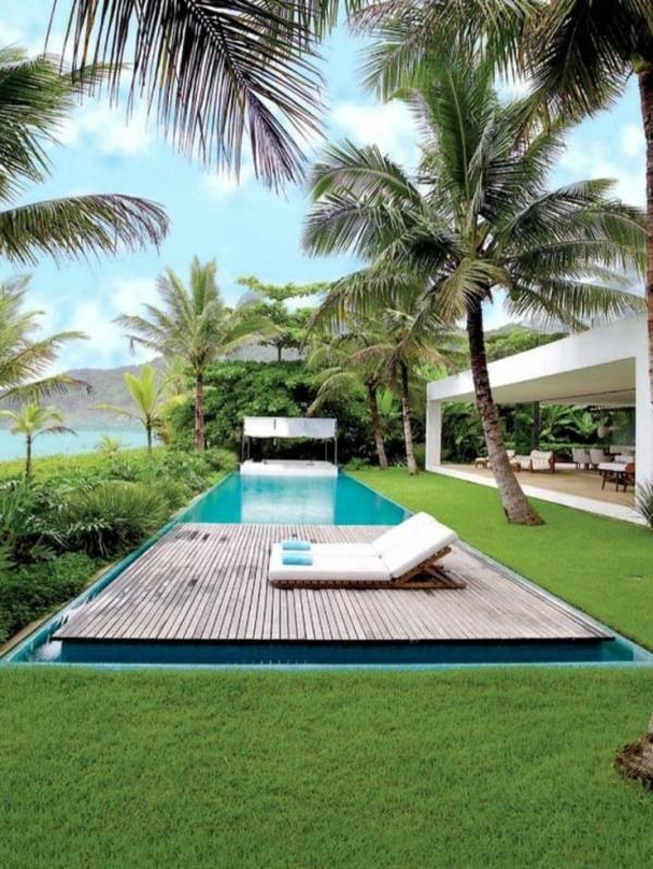 moderner garten mit pool entspannung pur großer garten