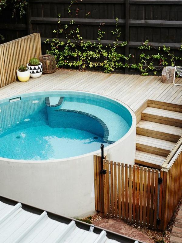 moderner garten mit pool outdoor schwimmbad hinterhof gestalten