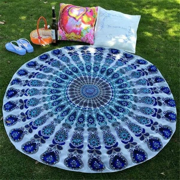 runder outdoor teppich boho style frisches muster