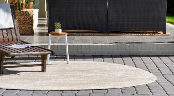 runder outdoor teppich moderner outdoor bereich