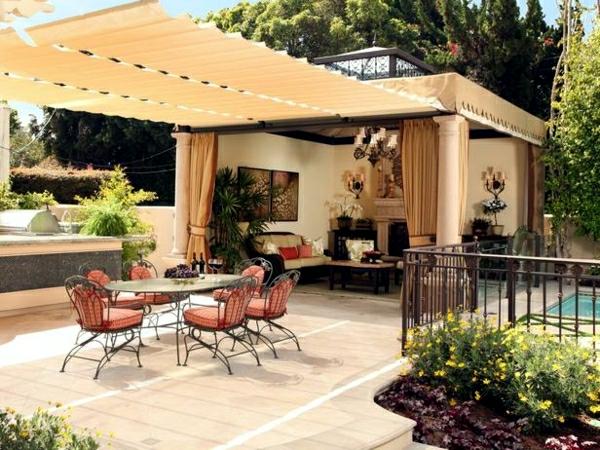 sonnenschutz für balkon und garten pergola beschttung garten sommer