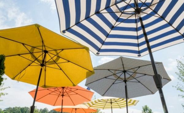 sonnenschutz für balkon und garten sonnenschirm funktional praktisch