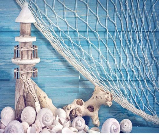strand maritime deko ideen fischernetz muscheln