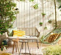 Terrasse dekorieren und erfrischen, um mehr Wohnlichkeit zu schaffen