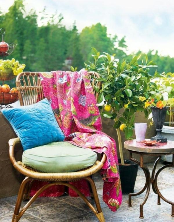 terrasse dekorieren sommer genießen wohnzimmer im freien
