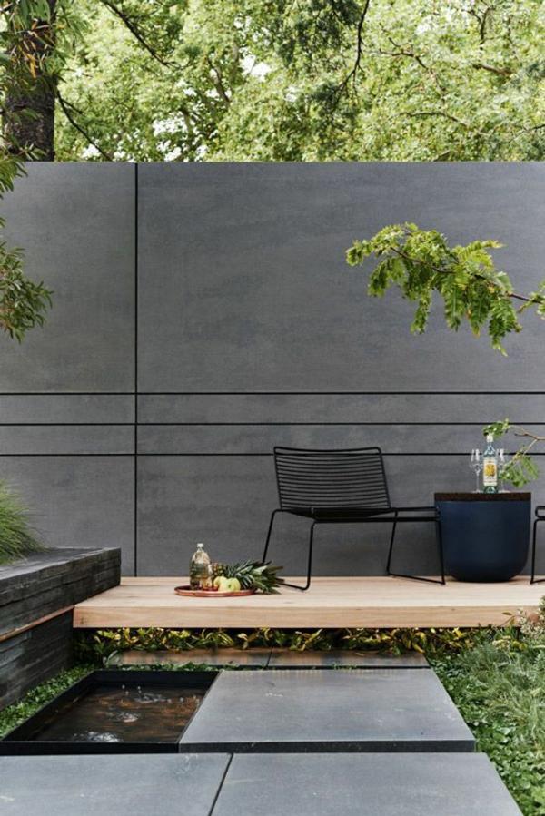 terrassentrennwand betonwand stilvolle option