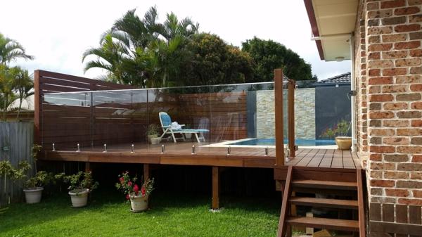 terrassentrennwand moderne seitzecke pool erholungsbereich