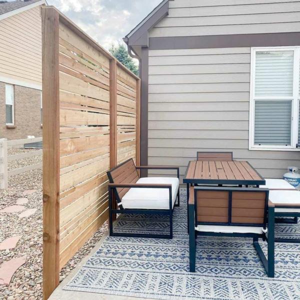 terrassentrennwand outdoor sichtschutz outdoor teppich