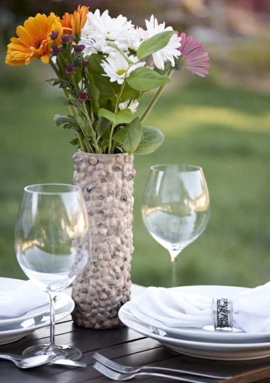 tischdeko vase aus pringles dose
