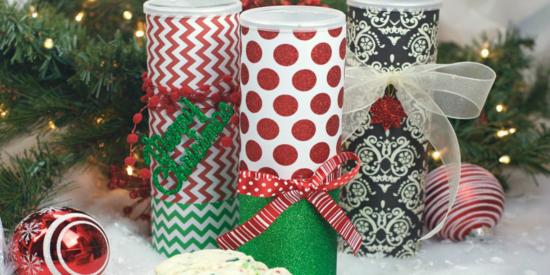 weihnachtsdeko ideen geschenkverpackungen pringles dosen