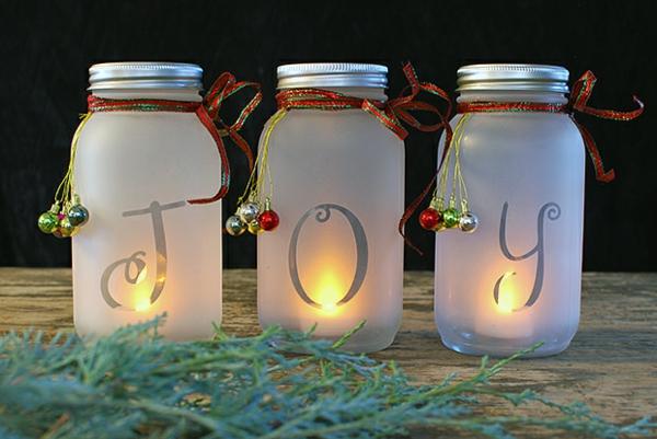 windlicht selbst gestalten weihnachten gemütliche atmosphäre schaffen