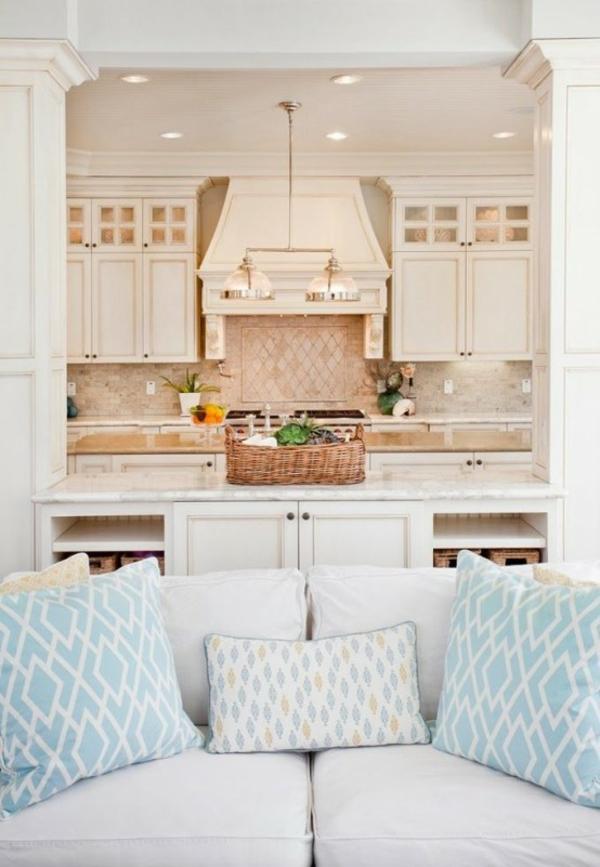 wohnküche einrichten gemütlich wohnen küche wohnzimemr kombinieren