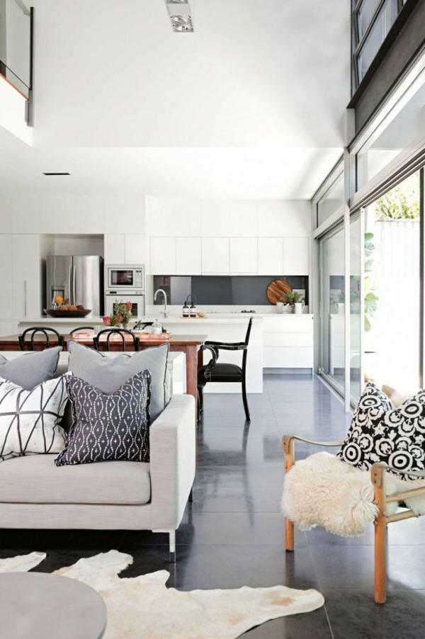 wohnküche einrichten küche wohnzimmer einheitliches einrichtugnskonzept