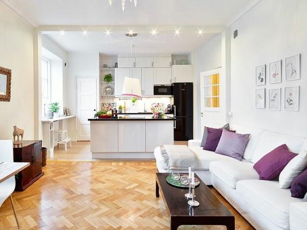 wohnküche einrichten küche wohnzimmer voneinander abtrennen