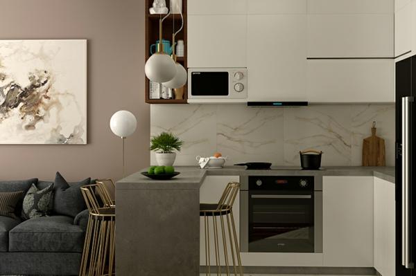 wohnküche einrichten kleine küche einrichten ideen