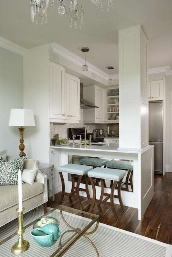 wohnküche einrichten kleine küche einrichtungsideen gemütlich stilvoll