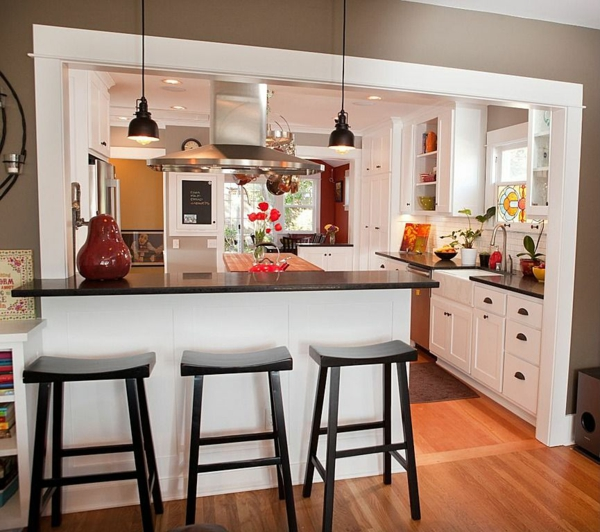 wohnküche einrichten kleine küche essplatz