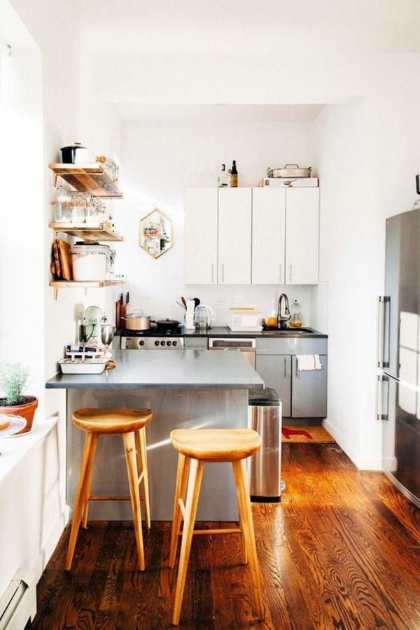 wohnküche einrichten kleine küche gemütlich einrichten