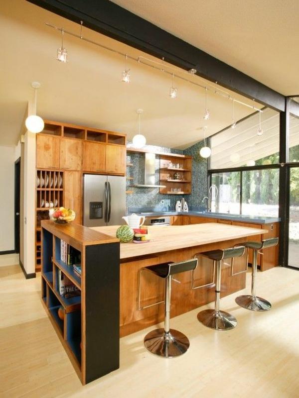 wohnküche einrichten trennwand ideen stauraum ideen