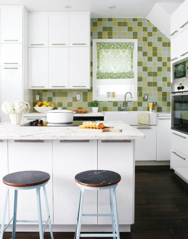 wohnküche einrichten weiße küche einrichten erfrischen
