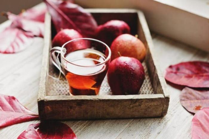 äpfel dörren apfeltee