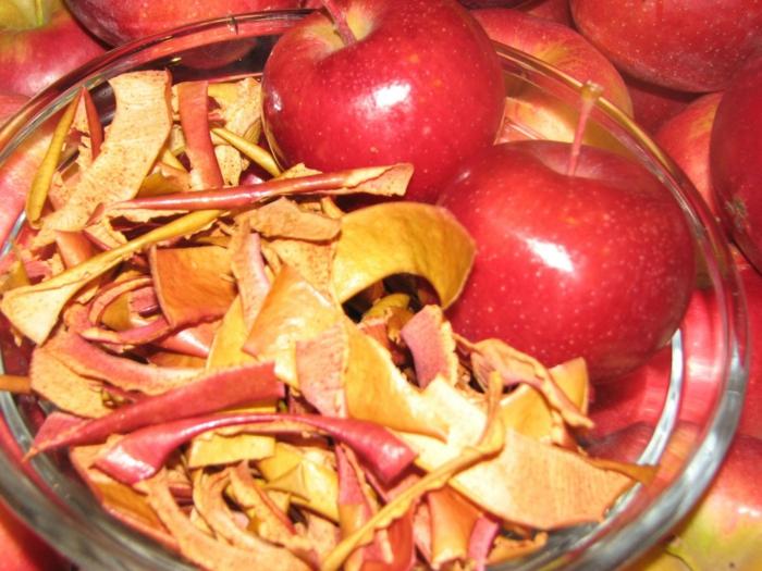 äpfel dörren chips