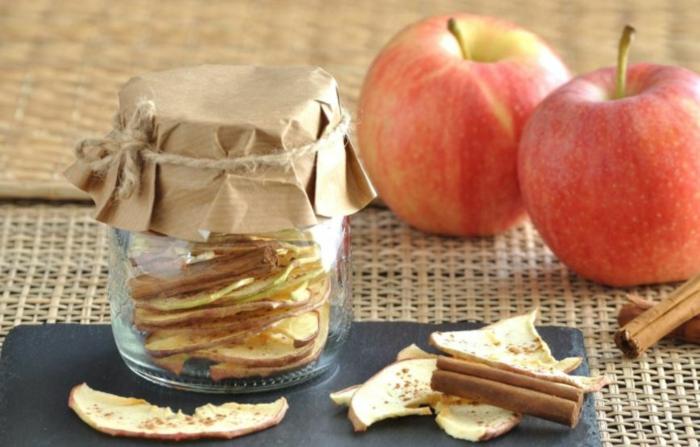 äpfel dörren im glas