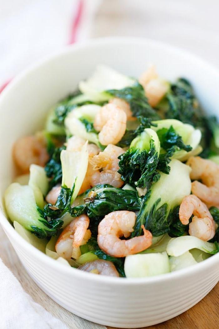 3 receitas de ingredientes para o jantar - 10 ideias de receitas simples e rápidas pak choi com camarão