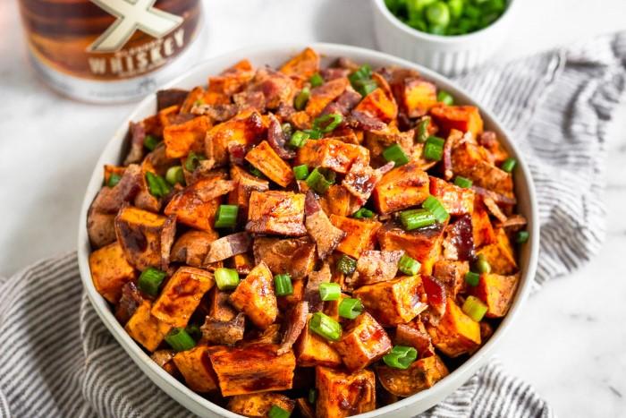 3 receitas de ingredientes para o jantar - 10 ideias de receitas simples e rápidas, batata doce bacon