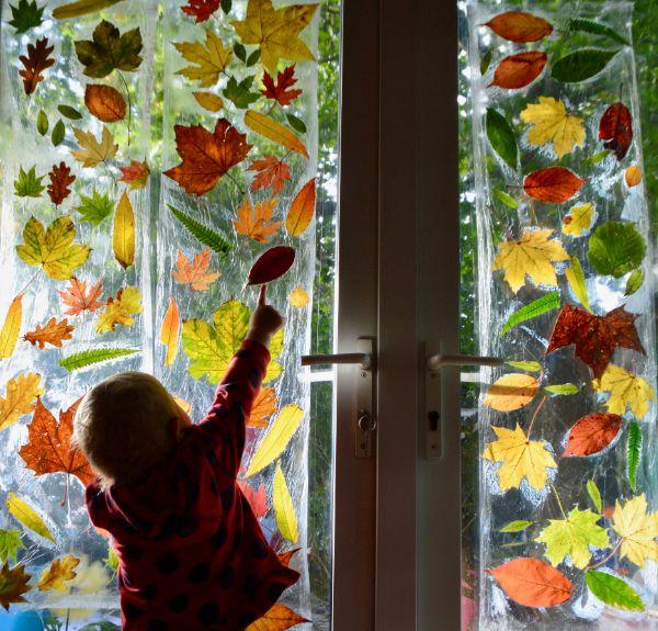 Basteln mit Kindern Herbst Ideen