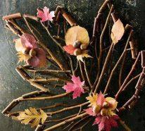 Basteln zum Herbst mit Naturmaterialien aus dem Garten oder Park