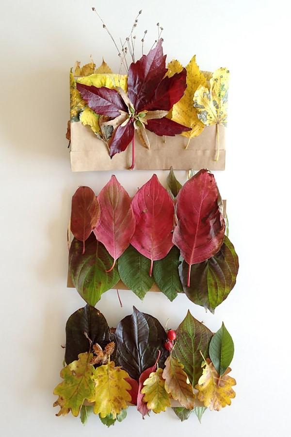 Basteln zum Herbst mit Naturmaterialien aus dem Garten oder Park kronen herbstprinzessin diy