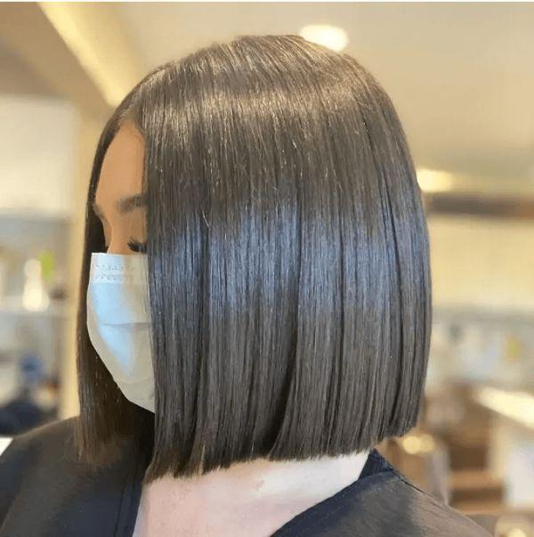 Bob Frisuren dunkle trendige Haarfarbe