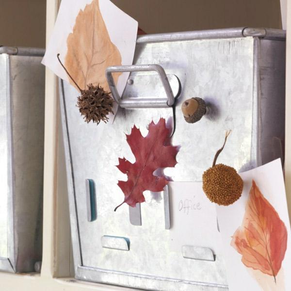 DIY natürliche Deko-Ideen Herbstblätter berahmen