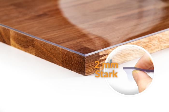 Tischschutzfolie Staerke