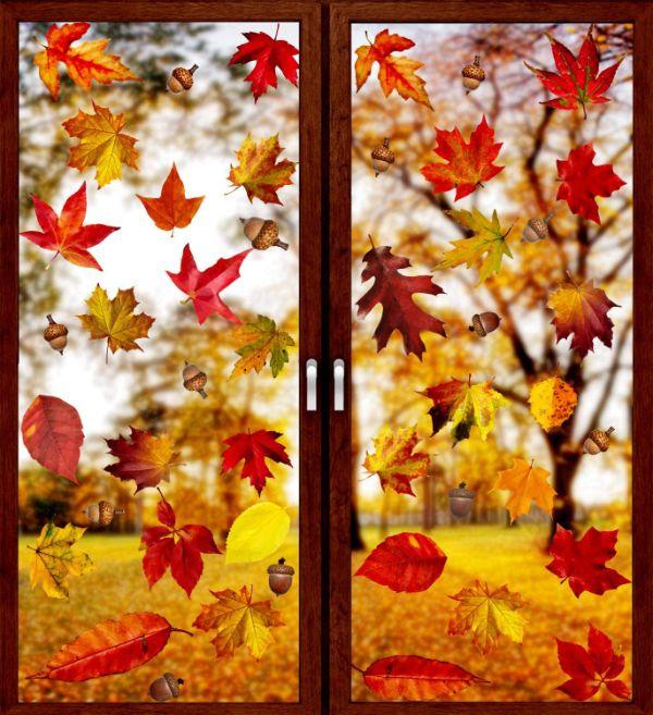 Eichel Blätter Herbst Fensterbiler Tendenzen